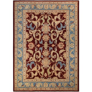 "Kafkaz Peshawar Antoinet Red & Blue Wool Rug - 10'3"" x 14'"