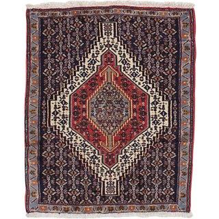 """2'6"""" x 3'2"""" Senneh Persian Rug"""