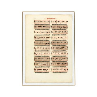 Antique Music Sheet, Printed in 1525