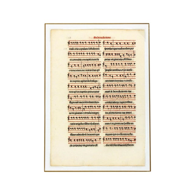 Antique Music Sheet, Printed in 1525 - Image 1 of 4