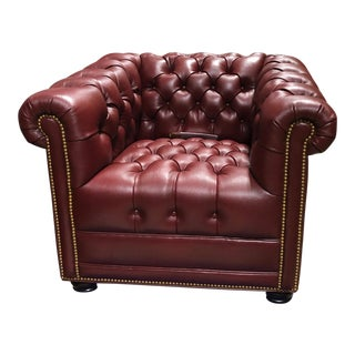 Hancock & Moore Leather Chesterfield Club Chair