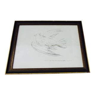"Picasso ""Dove in Flight"" Framed Lithograph"