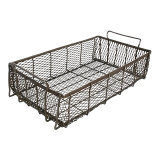 Industrial metal mesh container with handles, 60 available
