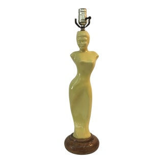 1940's Asian Motif Glamour Girl Lamp .