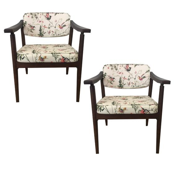Danish MidCentury Chinoiserie Hummingbird Chairs - A Pair - Image 2 of 4