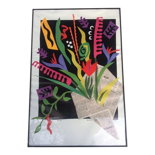 "Alex Boies Signed ""Bouquet"" Offset Lithograph"