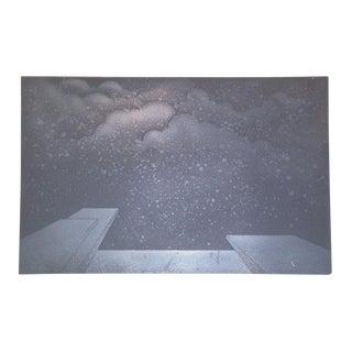 """Paul Lingren """"Cloud"""" Vintage Printing Plate"""