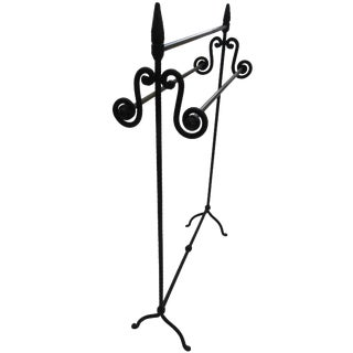 Black Iron Standing Towel Rack