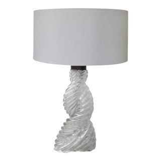 Paolo Venini Art Deco Swirled Glass Table Lamp