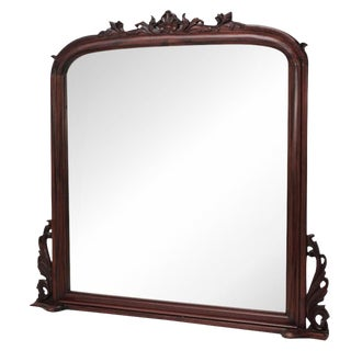 Solid Mahogany Beveled Mantel Mirror