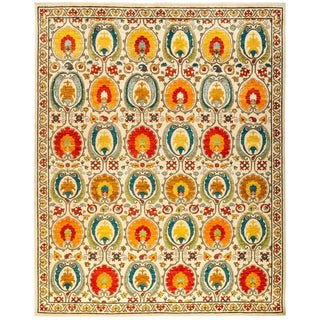 """Suzani Hand Knotted Area Rug - 8' 2"""" X 10' 3"""""""