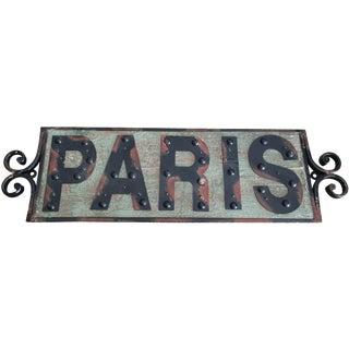 Shabby Chic Paris Sign