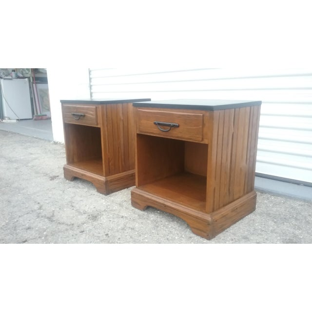 A. Brandt Ranch Oak Nightstands - A Pair - Image 4 of 11