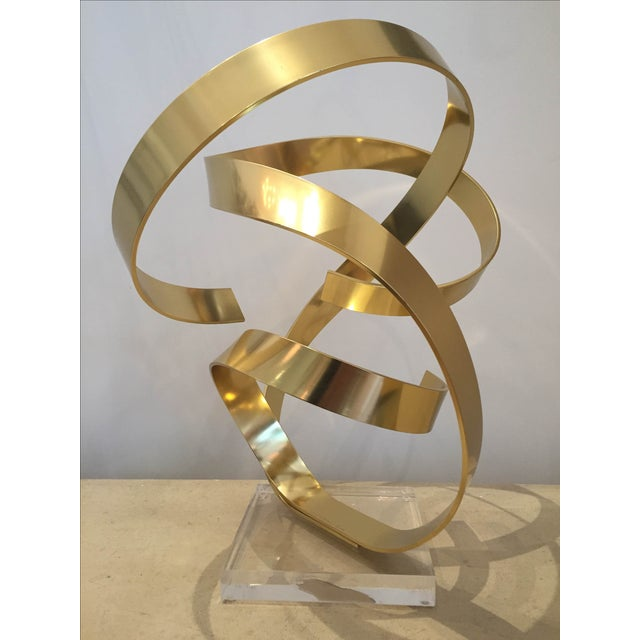 Signed Ribbon Sculpture by Dan Murphy - Image 3 of 3