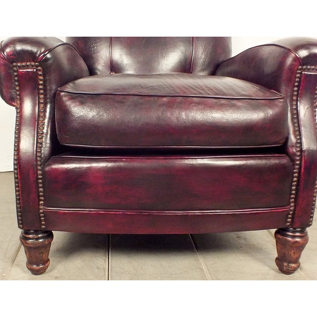 40s Dark Burgundy Leather Club Chair Chairish