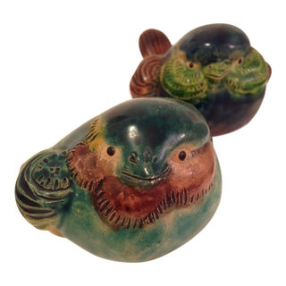 Vintage Chinese Birds - A Pair