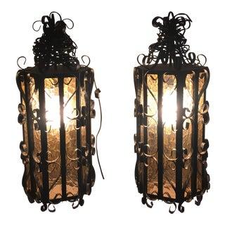 Mid-Century Swag Lamp - Pair
