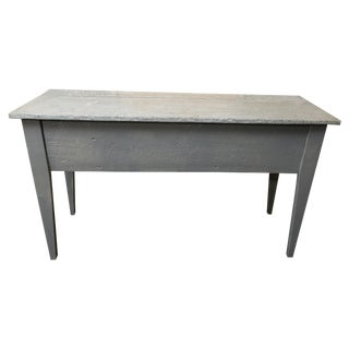 Industrial Zinc Top Console Table