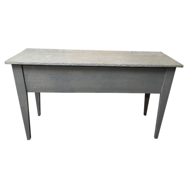 Industrial Zinc Top Console Table - Image 1 of 5