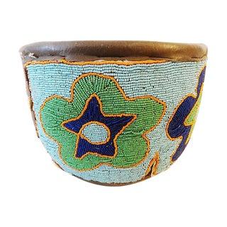 Yoruba Glass Beaded Basket