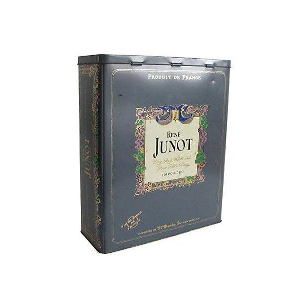 French Rene Junot Wine Tin - Image 1 of 4