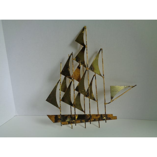 Mid-Century Ship Sculpture by Bowie - Image 6 of 6