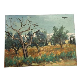 French Provincial Impressionist Landscape Painting