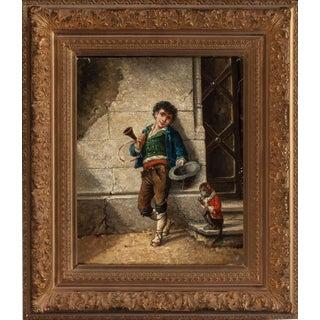 Pair of 19th Century Italian School Oil Paintings, Signed A. Leonard