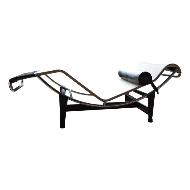 Authentic cassina lc4 chaise lounge chairish for Chaise lounge cassina