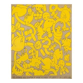 Tom Otterness 1985 Screenprint