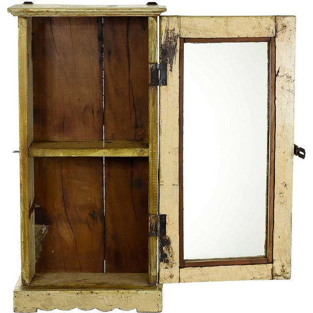 Image of Blonde Showcase Wall Cabinet