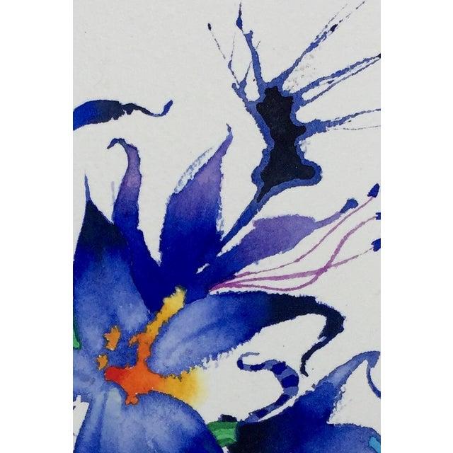 """Fairy Lilies"" Original Watercolor - Image 3 of 3"
