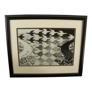 "M.C. Escher ""Day and Night"" Print"