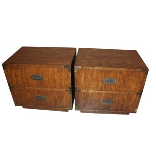 Dixie Campaign Nightstands - A Pair