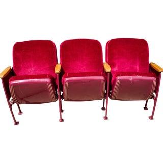 1960's Red Velvet Movie Seats