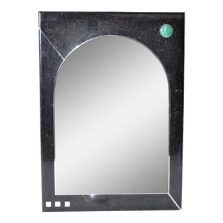 Oggetti Tessellated Stone Mirror with Chrome