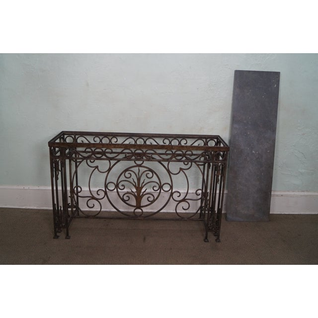 Iron Gothic Style Slate Top Console Table - Image 4 of 10