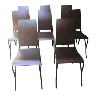 Custom Copper & Iron Dining Chairs - Set of 8