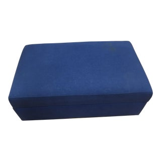 Crate & Barrel Ink Blue Lounge Storage Ottoman