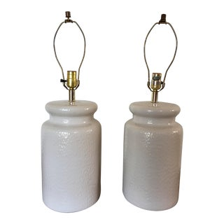 1970s Ginger Jar Table Lamps - A Pair