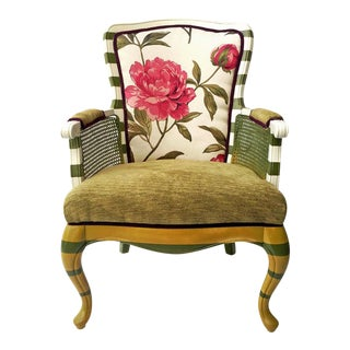 Floral Peony Chair