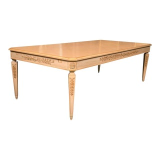 Grosfeld House Monumental Blonde Wood Dining Table