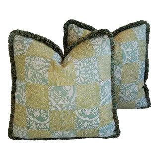 Custom Italian Fortuny Piazzetta & Boucher Pillows - a Pair