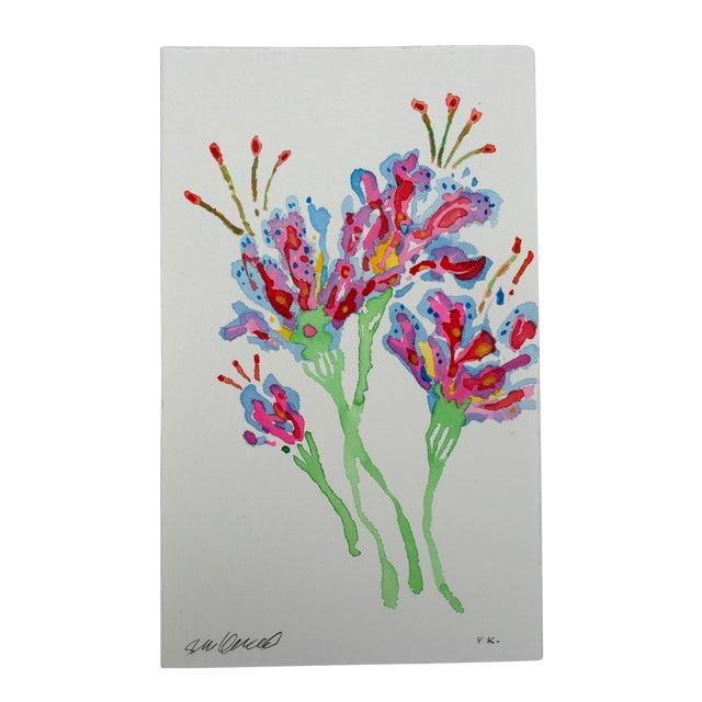 """Image of """"Tropical Stargazer 1"""" Original Watercolor"""