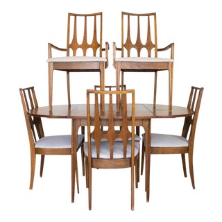 Mid Century Broyhill Dining Set 6 chairs  Drop Leaves and Removable Leaves. Used   Vintage Dining Table   Chair Sets for Sale at Chairish  463