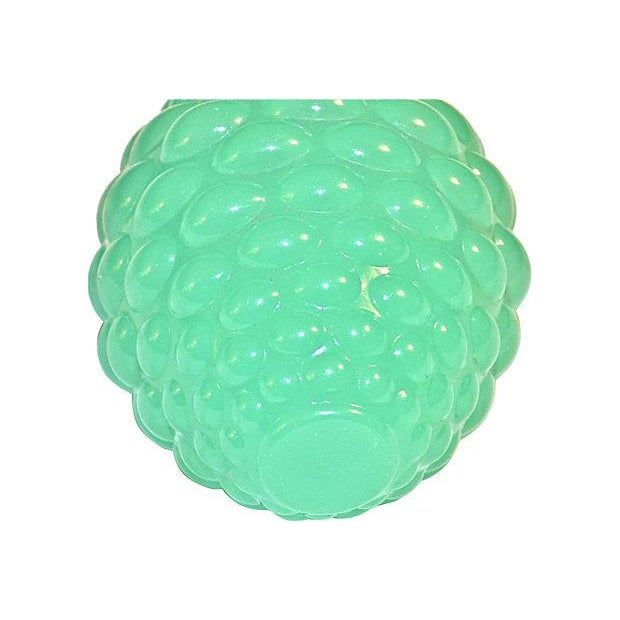 Image of Antique Green Glass Newel Post Topper