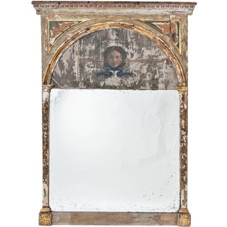 20th Century Neoclassical Trumeau Mirror