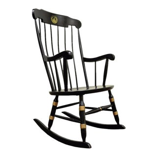 Vintage Sigill College University Nichols & Stone Windsor Rocking Chair