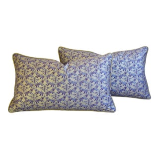 Designer Italian Mariano Fortuny Richelieu Feather/Down Pillows - a Pair