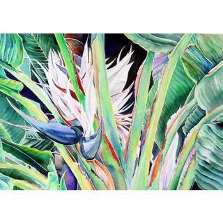"""Banana Tree"" Watercolor by Ann Matlock"